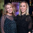 Cassie Stokes & Kathryn Thomas at the Boots Christmas preview event in the Bord Gais Energy Theatre. Picture: Anthony Woods