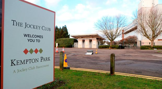 A man in his 50s has died in as yet unexplained circumstances following an incident in the stable yard at Kempton's all-weather fixture on Saturday evening, Surrey Police said.