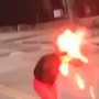 The moment a firework exploded in a jacket belonging to Michelle Kearns.