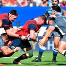 Dave Kilcoyne gets himself and Munster on the front foot during their drawn game against Castres. Photo: Getty Images