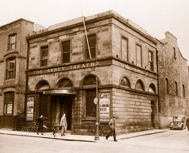 The old Abbey Theatre Dublin, scene of angry protests