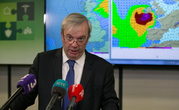 Group chairman Sean Hogan speaking to the media following a meeting of the National Emergency Coordination group in Dublin. Photo: PA Wire