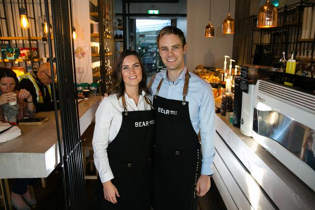 Husband and wife team Stephen and Ruth Deasy owners of Bear Market Coffee