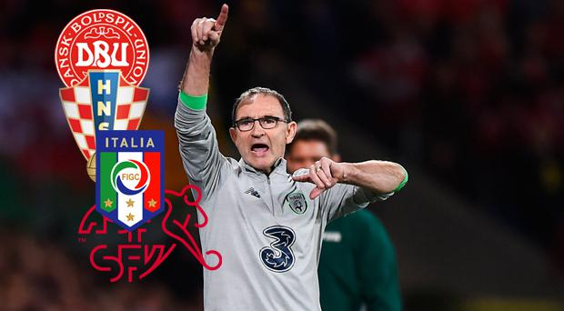 Martin O'Neill's Ireland will be in tomorrow's World Cup play-off draw
