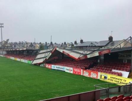Ophelia blows roof off stand of Cork GAA club