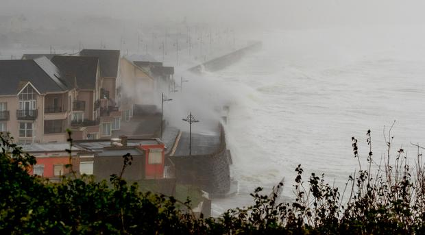 Storm scenes at Tramore Co. Waterford. Picture Dylan Vaughan