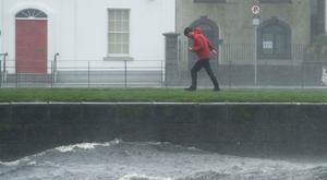 As Hurricane Ophelia continues in Galway people taking video of themselves out in the Height of the storm at the Spanish arch and Claddgh area of Galway . Photo:Andrew Downes
