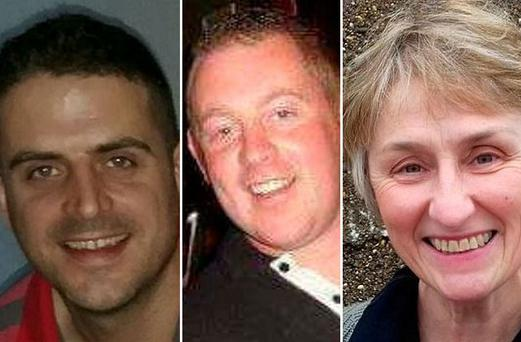Tributes have been paid to three victims who lost their lives in Storm Ophelia related incidents: Fintan Goss, Michael Pyke and Clare O'Neill
