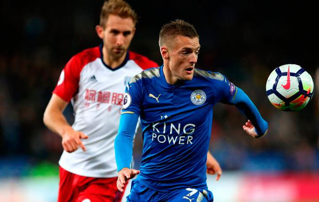 Leicester City's Jamie Vardy in action. Photo credit: Nick Potts/PA Wire