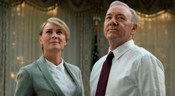 Robin Wright and Kevin Spacey as Claire and Frank Underwood in 'House of Cards', which helped inspire trolls