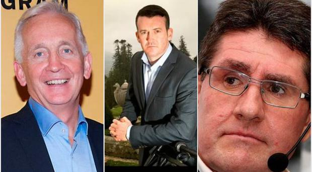 David Walsh (left), Donal Og Cusack (centre) and Paul Kimmage (right).