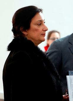 Maltese investigative journalist Daphne Caruana Galizia attends a press conference in Valletta, Malta January 28, 2015. Investigative journalist Daphne Caruana Galizia was killed after a bomb blew up a car killing her in Bidnija, Malta, on October 16, 2017. Picture taken January 28, 2015. REUTERS/Darrin Zammit Lupi