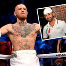 Conor McGregor and (inset) Paulie Malignaggi