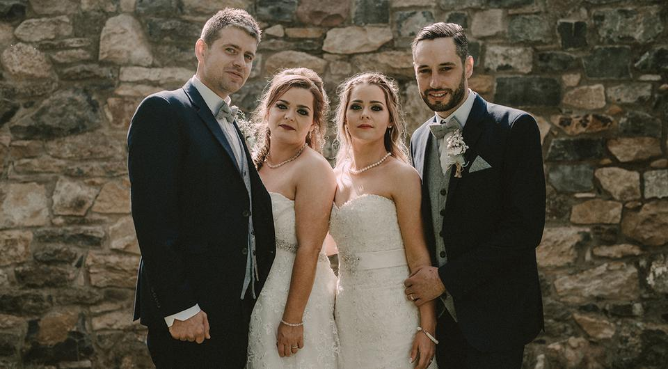 Tipperary twin sisters tie the knot in lavish double wedding doing tipperary twin sisters tie the knot in lavish double wedding doing it together made it something that everyone will always remember junglespirit Gallery