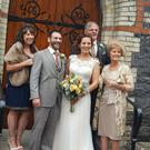 Paula and Carlos Castillo on their wedding day in Co Meath