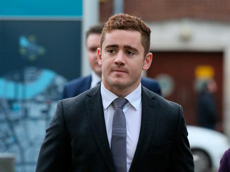 Ireland and Ulster rugby player Paddy Jackson arriving at Belfast's Laganside courts Brian Lawless/PA Wire