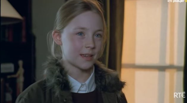 WATCH: A 'young and feisty' Saoirse Ronan making her debut in RTE series Proof