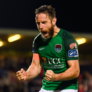 29 September 2017; Alan Bennett of Cork City celebrates following the Irish Daily Mail FAI Cup Semi-Final match beween Cork City and Limerick FC at Turner's Cross in Cork. Photo by Stephen McCarthy/Sportsfile