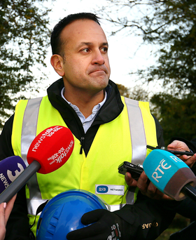 Leo Varadkar's controversial new 'spin unit' swung into action for the first tangible time during Storm Ophelia Picture: Frank McGrath