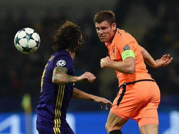 In the two other Champions League group stage matches this season, James Milner had not made it off the bench