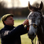 Trainer Henry de Bromhead with Irish Champion Hurdle winner Petit Mouchoir. Photo: Cody Glenn/Sportsfile