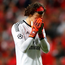 Benfica goalkeeper Mile Svilar relives his costly mistake. Photo: Carl Recine/Reuters