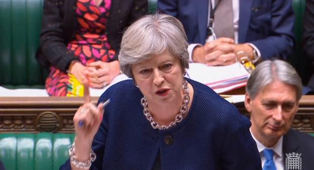 Prime Minister Theresa May speaks during Prime Minister's Questions yesterday. Photo: PA Wire