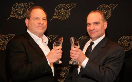 Bob Weinstein, right, with his brother Harvey