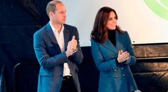 Prince William, Duke of Cambridge and Catherine, Duchess of Cambridge attend the Coach Core graduation ceremony for more than 150 Coach Core apprentices at The London Stadium on October 18, 2017 in London, England. (Photo by Chris Jackson/Getty Images)