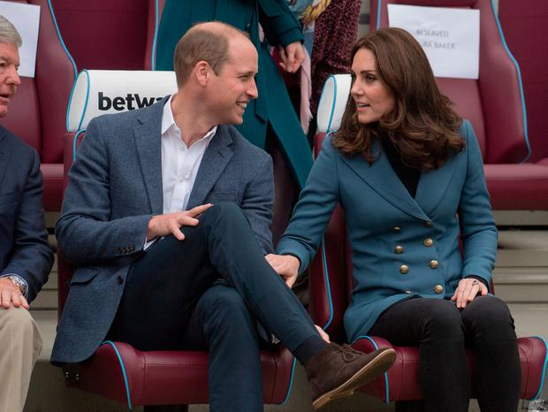 The Duke and Duchess of Cambridge at West Ham UnitedÕs London Stadium, as they attend the graduation ceremony for more than 150 Coach Core apprentices