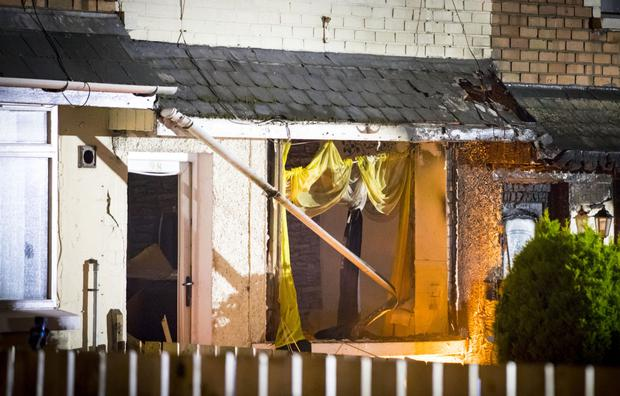 Pictured is emergency services at the scene of a suspected gas explosion in the Farringdon Gardens area of Ardoyne in North Belfast on October 18th 2017 (Photo by Kevin Scott / Belfast Telegraph)