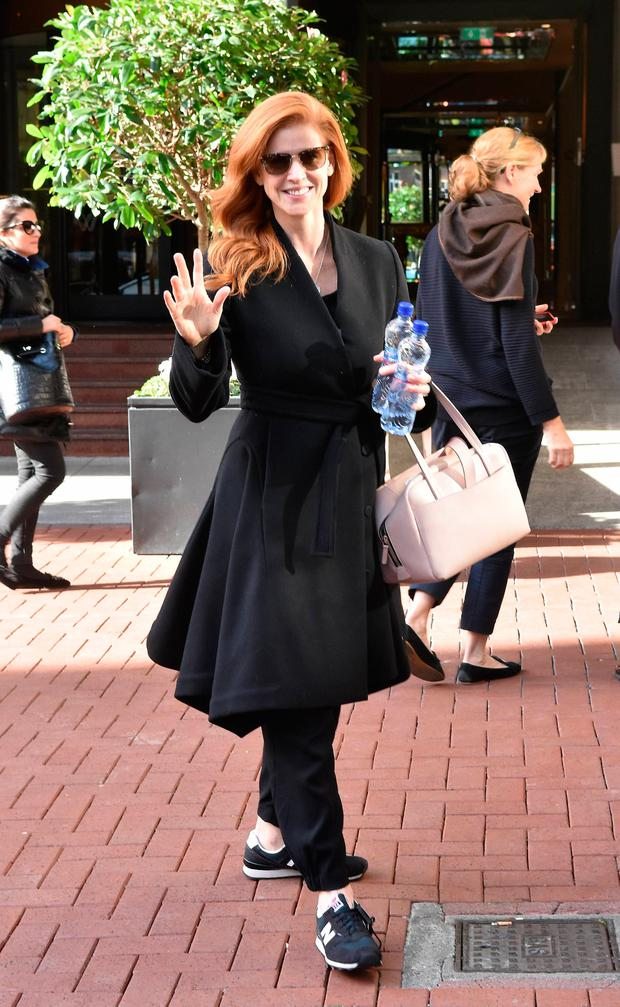 Suits actress Sarah Rafferty spotted at The Westbury Hotel, Dublin