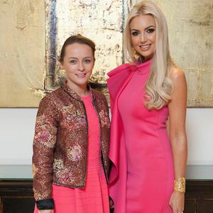Roisin Tierney Crowe and Rosanna Davison at the Look Good Feel Better fundraiser, supported by L'Oreal. Picture: Brian McEvoy