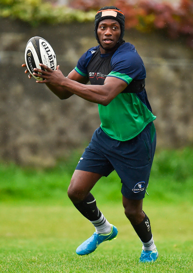The return to fitness of Niyi Adeolokun for the first half was a huge boost for Connacht. Photo by Seb Daly/Sportsfile
