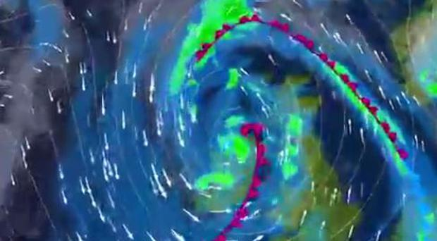 Watch: Video shows how Storm Brian will progress as winds of up to 130kph expected