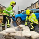 Cork City Fire brigade attend to localised flooding own the south Douglas Road, Cork city during heavy rains. Pic Daragh Mc Sweeney/Provision