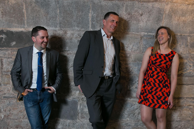 Paddy Healy of Size/U, Vincent Farrelly of AquaRoot, and Aisling Byrne of Nu Wardrobe