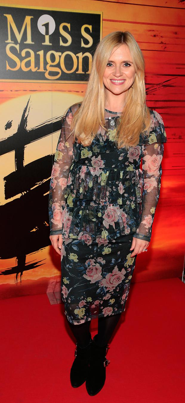 Karen Koster at the opening night of Miss Saigon at The Bord Gais Energy Theatre, Dublin. Picture: Brian McEvoy