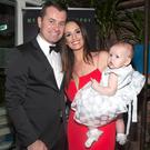 Shay Given and Becky Gibson with their daughter Cassie at the launch of his book Any Given Saturday at House in Leeson Street, Dublin. Picture: Brian McEvoy