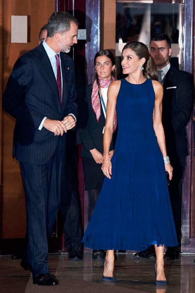 King Felipe VI of Spain and Queen Letizia of Spain attend the 'XXVI Musical Week' closing concert at the Principe Felipe Auditorium during the 'Princess of Asturias 2017 Awards on October 19, 2017 in Oviedo, Spain. (Photo by Carlos Alvarez/Getty Images)