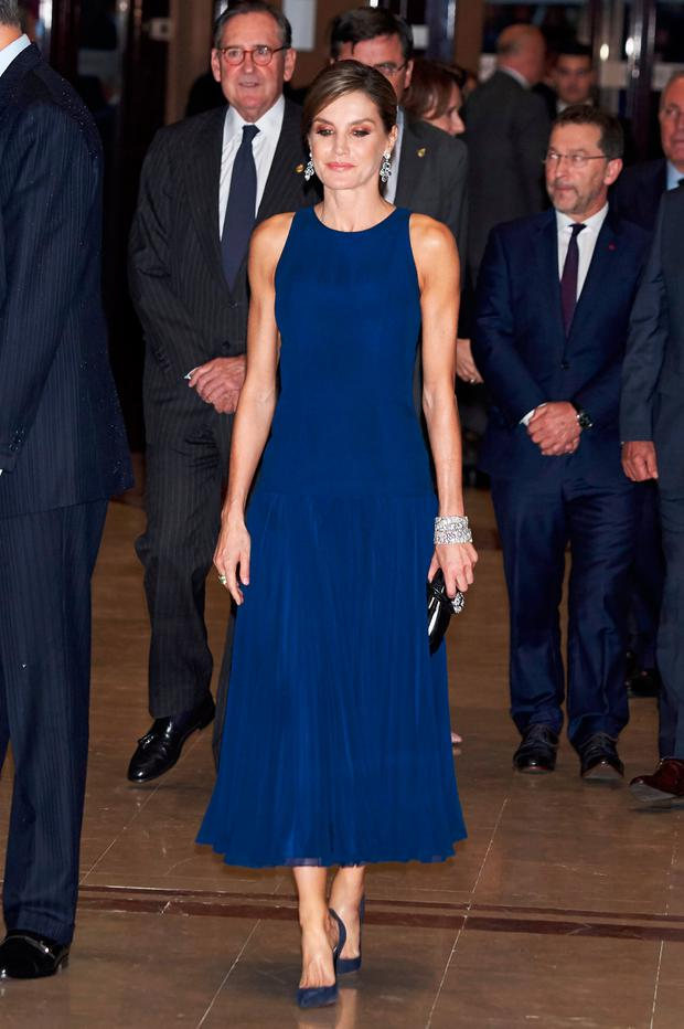Queen Letizia of Spain attends the 'XXVI Musical Week' closing concert at the Principe Felipe Auditorium during the 'Princess of Asturias 2017 Awards on October 19, 2017 in Oviedo, Spain. (Photo by Carlos Alvarez/Getty Images)