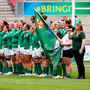 26 August 2017; The Ireland team before the 2017 Women's Rugby World Cup, 7th Place Play-Off between Ireland and Wales at Kingspan Stadium in Belfast. Photo by John Dickson/Sportsfile
