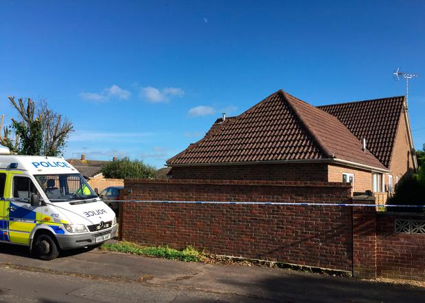 Police at the scene outside a property in Whitsbury Road, Fordingbridge, after a 35-year-old woman has been arrested on suspicion of murdering a three-year-old girl. Photo: Ben Mitchell/PA Wire