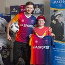 Oliver Hand with Jamie McDonald, a football freestyler.