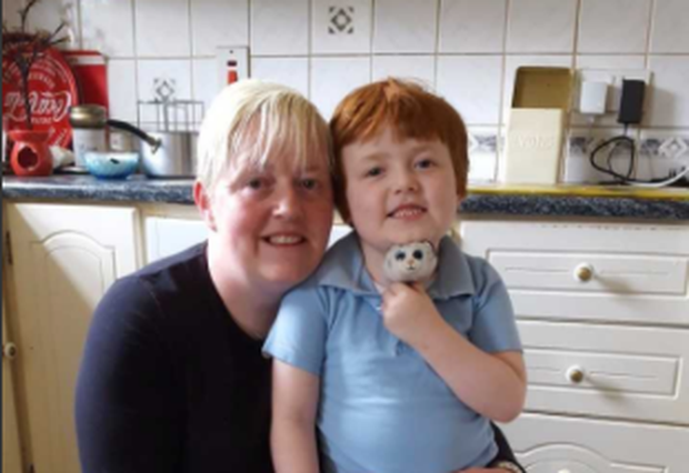 Ann Marie Harte and her son Lewis who has Duchenne Muscular Dystrophy (DMD).