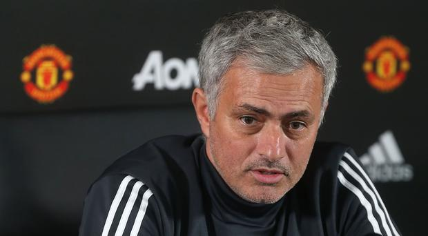 Manager Jose Mourinho of Manchester United speaks during a press conference at Aon Training Complex on October 20, 2017 in Manchester, England. (Photo by Matthew Peters/Man Utd via Getty Images)