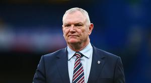 Greg Clarke, Chairman of The FA looks on prior to the FA Youth Cup Final, second leg between Chelsea and Mancherster City at Stamford Bridge on April 26, 2017 in London, England. (Photo by Jordan Mansfield/Getty Images)