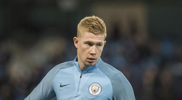 UEFA Champions League, Manchester City versus Napoli; Kevin De Bruyne of Manchester City warms up for the game (Photo by Conor Molloy/Action Plus via Getty Images)