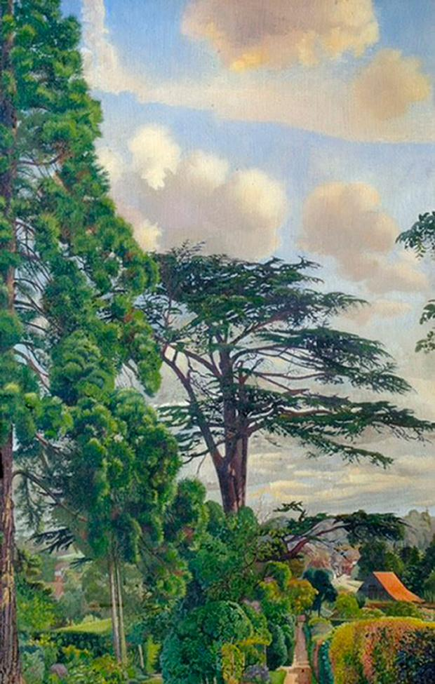 Undated handout photo issued by the Metropolitan Police of a £1 million painting stolen five years ago which was discovered in a drug dealer's den alongside his lucrative stash of cocaine and ecstasy, police said. The work, by Sir Stanley Spencer and titled 'Cookham from Englefield', was taken from the Stanley Spencer Gallery, Berkshire, in 2012.