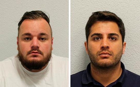 Undated handout photo issued by the Metropolitan Police of Harry Fisher (left) and Zak Lal who have both been jailed after a £1 million painting stolen five years ago which was discovered in a drug dealer's den alongside his lucrative stash of cocaine and ecstasy, police said. PRESS ASSOCIATION Photo.